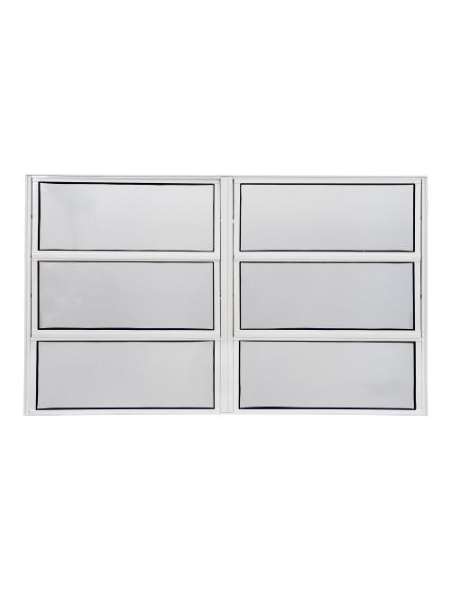 Janela basculante 2 seções alumínio branco