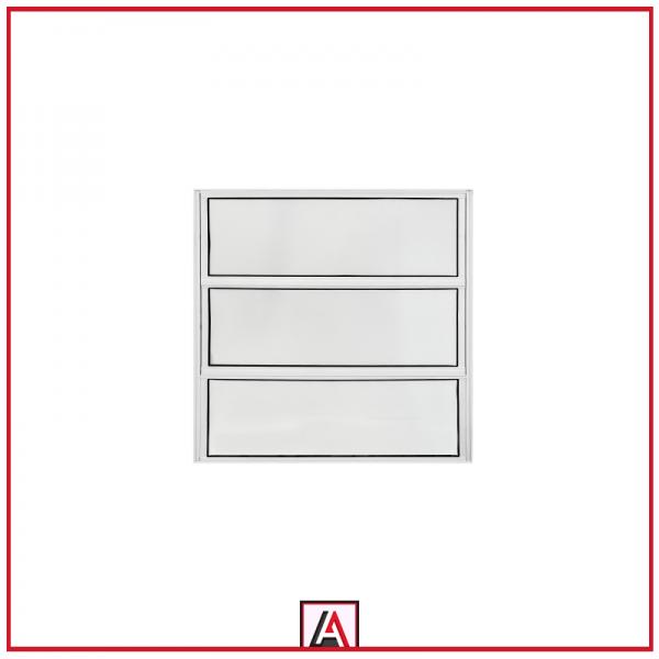 Janela basculante 1 seção alumínio branco