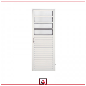 porta mista alumínio branco